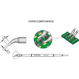 JBC C120-004 7mm Tweezer Tip 1 Each