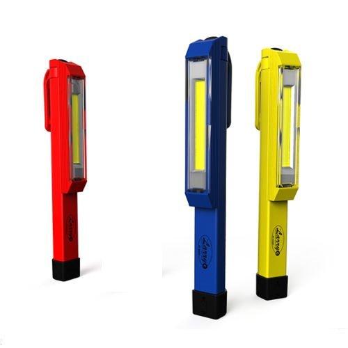 3 Pack Nebo Larry C COB LED Work Light Magnetic Clip High-power 170 Lumen COB Led Yellow RedBlue
