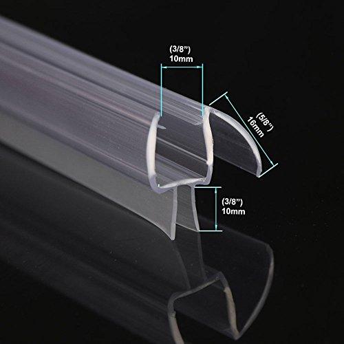 28 Length 38 Frameless Shower Door Sweep Bottom Seal Wipe Drip Rail