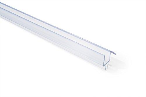 SHOWERDOORDIRECTCOM 14COBS36 Frameless Shower Door Bottom Sweep with Drip Rail for 14-Inch Glass 36-Inch