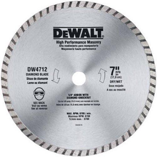 DEWALT Diamond Blade for Masonry 7-Inch DW4712B