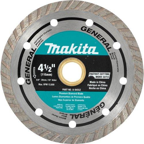 Makita A-94552 4-12-Inch Turbo Rim Diamond Masonry Blade