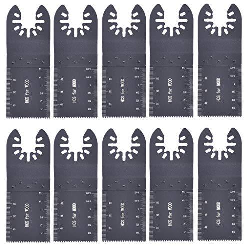Universal 10 PCS 34mm Oscillating saw blade Carbon Steel Cutter Multi Tool Saw Blades by Littay 10425 cm black
