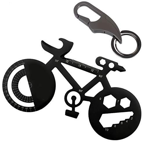 Bike Multi Tool Key Chain Mini Bottle Opener Angle Ruler Creative Bicycle Pocket Multitool for Camping Travel