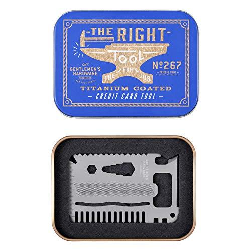 Gentlemens Hardware 15-in-1 Titanium Coated Stainless Steel Credit Card Pocket Multi Tool