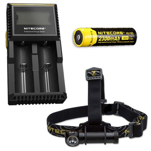 Nitecore HC30 1000 Lumen Headlamp wNL183 2300mAh Battery D2 Charger  FREE Andrew Amanda Pen