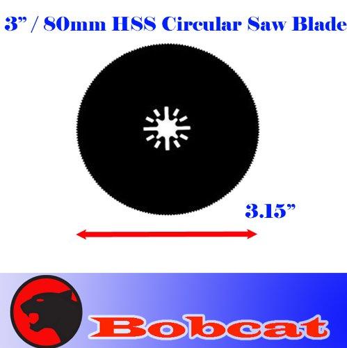3 HSS 80mm Circular Round Metal Cut Oscillating Multi Tool Saw Blades for Fein Multimaster Bosch Multi-x Craftsman Nextec Dremel Multi-max Ridgid Dremel Chicago