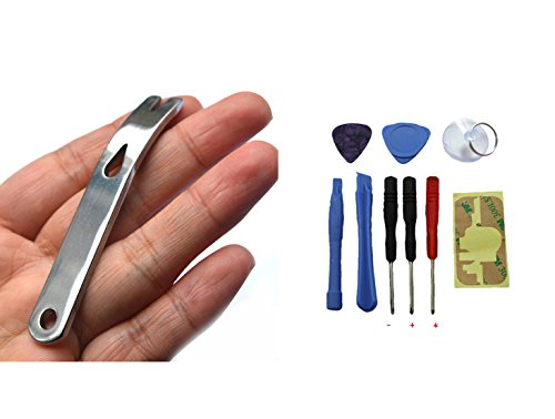 Bluelans Pocket Size Stainless Steel Crowbar Pry Bar Widgy Bar EDC Tool for Bushcraft Survival