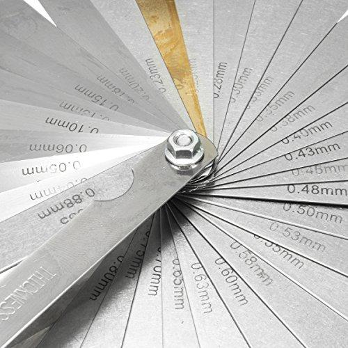 32 Blade Feeler Gauge Set Imperial Metric Includes Brass Blade Measure Tool