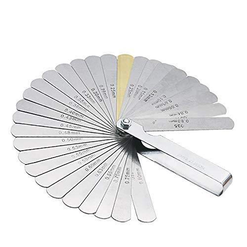32 Blades Feeler Gauge Metric Gap Filler 004-088mm Thickness Gage Tool