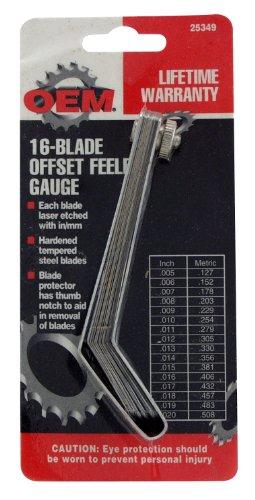OEMTOOLS 25349 Offset Feeler Gauge with 16-Blade