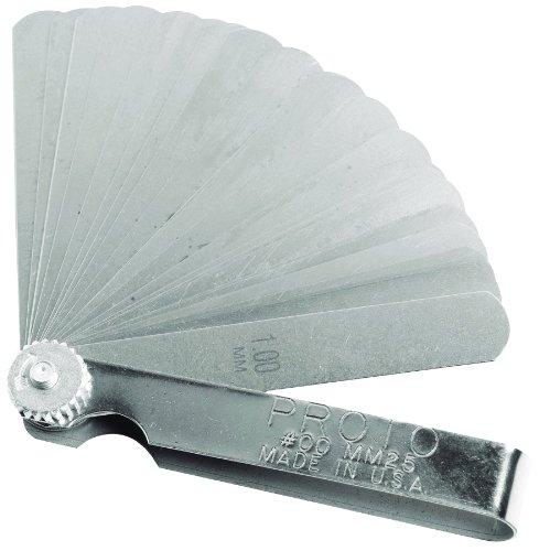 Stanley Proto J00MM25 25 Blade Metric Feeler Gauge Set