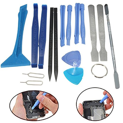 ESSENTIAL SALES4YOUÂ  17 pcs pieces Precision Repair Set Tools Kit Metal Plastic Pry Spudger for iPad iPhone 4 5 5c 5s 6 6s 7 Plus Samsung Galaxy Other Devices