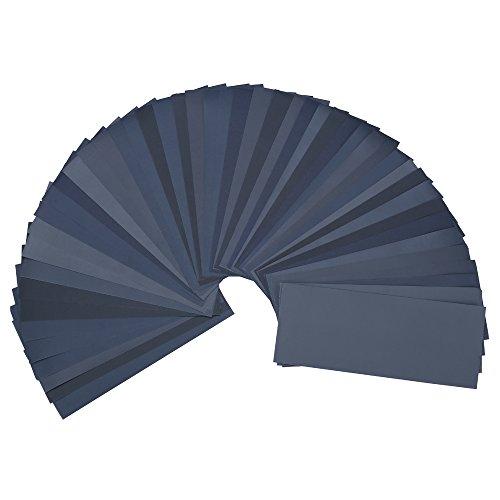 48PCS Sand Paper Wet Dry Sandpaper Grit Assorted Sheet for Metal