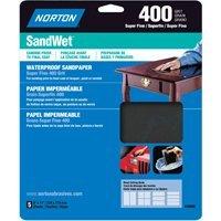 Norton 48060 9 X 11 400 Grit Wet Sandpaper Sheets 5 Count