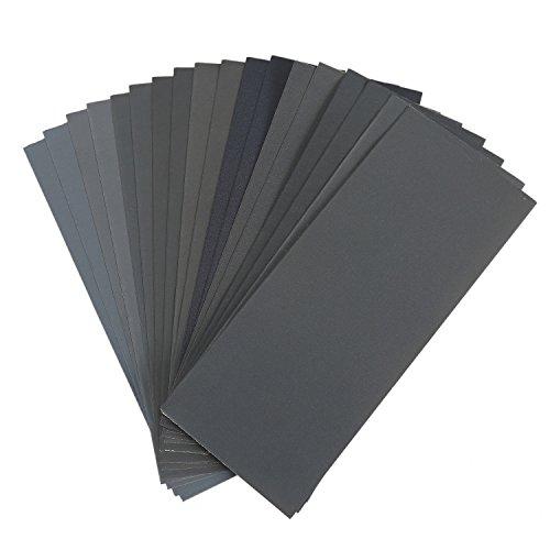Sandpaper Grit Assortment Dry Wet Polishing Sand Paper Sheet for MetalWoodFurnitureFinishingAutomotive 18 Pieces