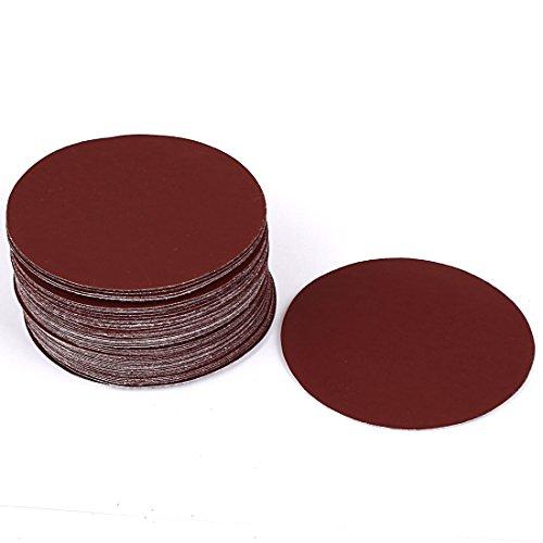 uxcell 4inch Dia Round Abrasive Sanding Sandpaper Disc 1200 Grit 50 Pcs
