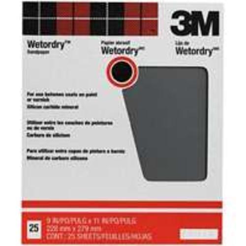 3M 9X11 150C WetDry Sandpaper 88601