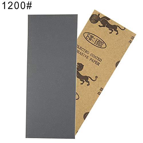 Eamoney Wet Dry Sandpaper Sheet40060080010001200150020002500 Sand Papers Sanding Polishing Sandpaper for Wood Furniture 1200
