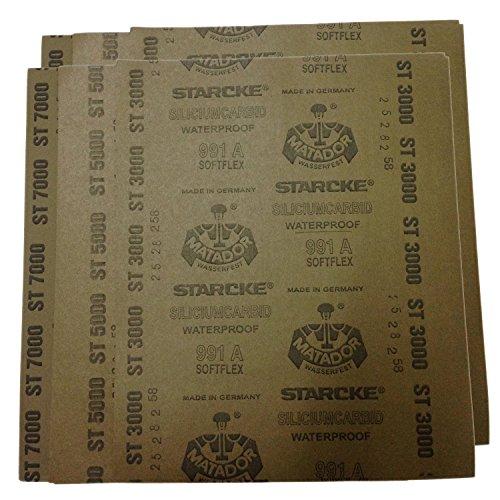 Grit 1500 to 7000 Wetdry Sandpaper Sheets Precision Polishing Sanding -2pcs of ech Grit 1500 2000 2500 3000 5000 7000 Sanding sheet