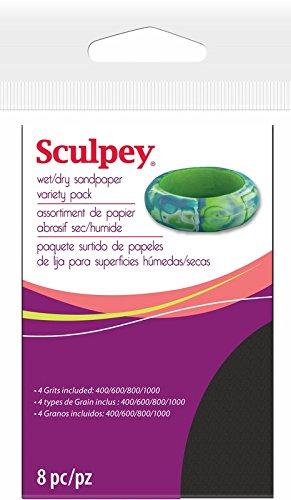Polyform AS2010 8-Piece Sculpey WetDry Sandpaper 275 by 45-Inch Variety Pack