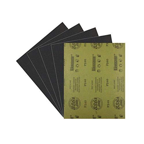 Sandpaper Wet Dry Sandpaper 240Grit Assortment Abrasive Paper Sheets For Automotive Sanding Wood Furniture Finishing5 Pcs