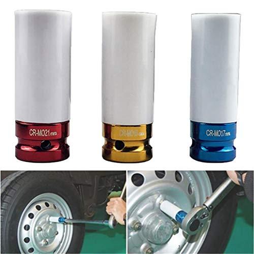 Adjustable Tools for Home Wrench Sets 3Pcs 12 Inch 17mm 19mm 21mm Car Wheel Tire Spanner Metal Nut Socket Driver Set