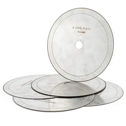 5Pcs 6 inch Super-Thin Arbor Hole 58 Rim 053mm Diamond Lapidary Saw Blade Cutting Disc Jewelry Tools for Stone Gemstone