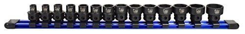 Astro Pneumatic Tool 78314 Metric 38 Drive Low Profile Nano Impact Sockets 14 Piece