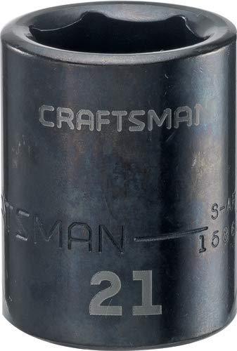CRAFTSMAN Shallow Impact Socket Metric 12-Inch Drive 21mm CMMT15868