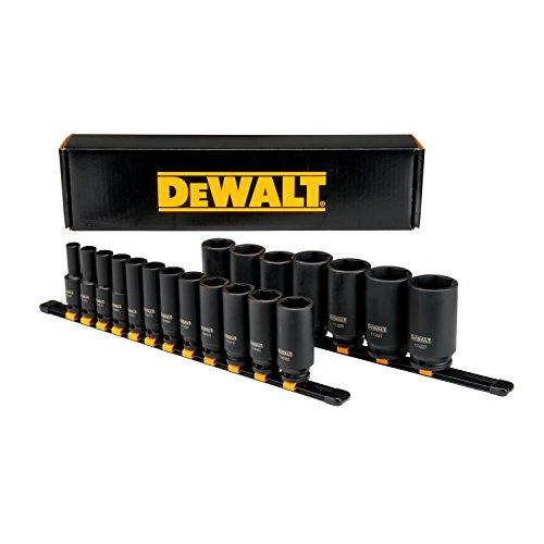 DEWALT 19PC SAE 12Drive Impact Deep Socket Set