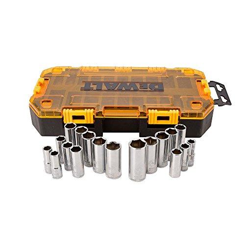 DEWALT DWMT73812  Tool Kit 38 Drive Deep Socket Set 20 Piece