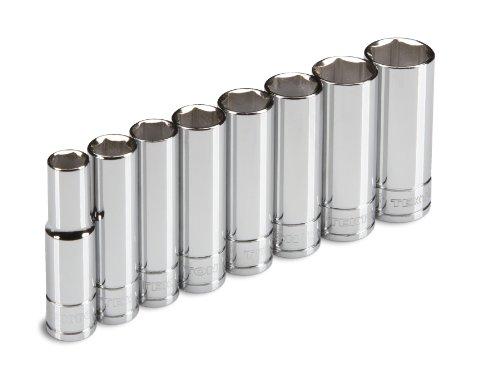 TEKTON 1235 38-Inch Drive Deep Socket Set Inch Cr-V 38-Inch - 1316-Inch 8-Sockets
