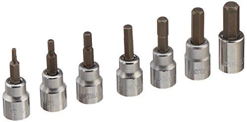 Stanley 85-708 38-Inch Drive Metric Professional Grade Hex Bit Socket Set 7-Piece