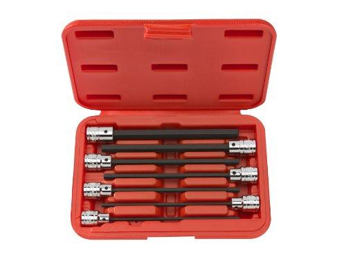 TEKTON 1363 38-Inch Drive Extra Long Hex Bit Socket Set Metric 3 mm - 10 mm 7-Sockets