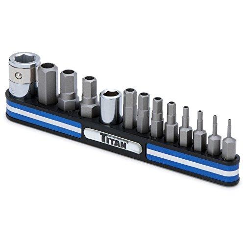 Titan Tools 16136 Tamper Resistant Metric Hex Bit Socket Set - 13 Piece