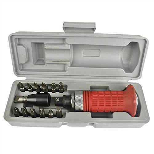 14 Impact Driver Sockets Screwdriver Heavy Duty Reversible Screw Socket Bit Tools 14Pcs set