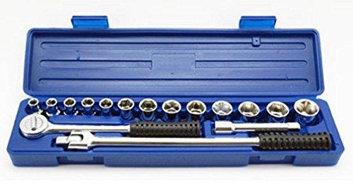 17-Piece x 12-Inch Drive Professional Socket Set SAE