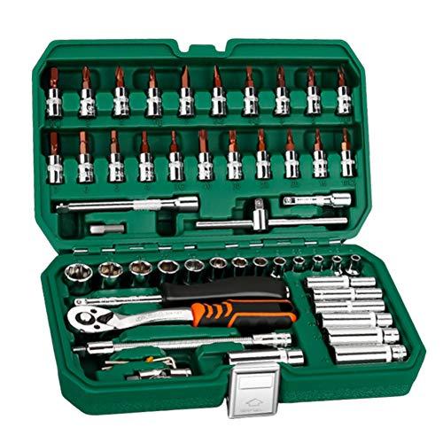 Namever 46  53Pcs Professional Socket Wrench Ratchet Wrench Car Repair Hand Tool Set Portable Home 53Pcs