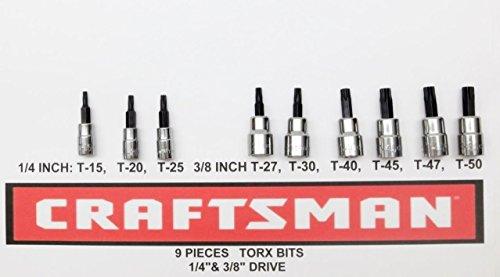 Craftsman 9 pc 14 38 Torx Bit Socket Set