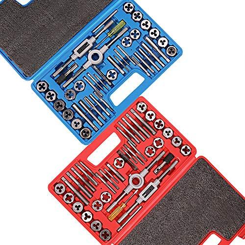 Orion Motor Tech SAE Metric Tap and Die Set 80pcs  SAE Thread Types NC NF NPT  Metric Thread Sizes M3-5mm - M12-175mm