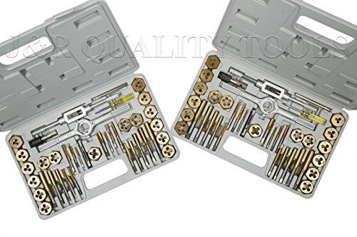 Vector Tools Tap and Die Set Premium SAE METRIC Titanium Coated 80-Piece
