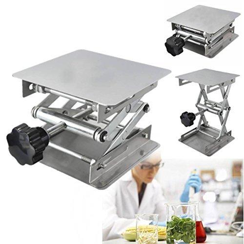 Drillpro 4x4 Scientific Lab Jack Aluminum Lab Lifting Platform Stand Rack Scissor Lab-Lift Lifter