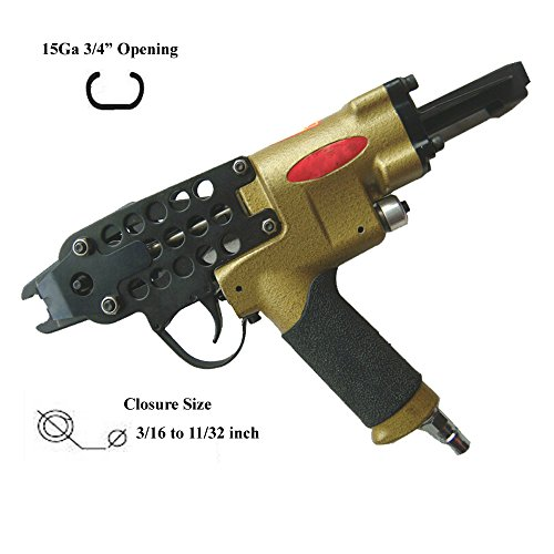 JXPARTS SC7C Hog Ring Tool 15GA 34 C Ring Tool Hog Ring Plier Closure Tool Pneumatic 316″ to 1132 ID Closure Size