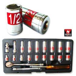 22pc 14 Dr Hi-viz Socket Set SAE Auto Mechanic Tools