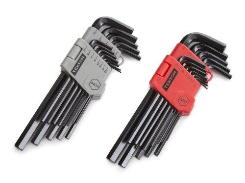 TEKTON Long Arm Hex Key Wrench Set InchMetric 26-Piece  25252