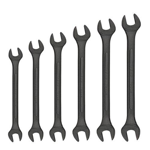 Neiko 03127A 6 Piece Black-Oxide Jumbo SAE Angle Wrench Set