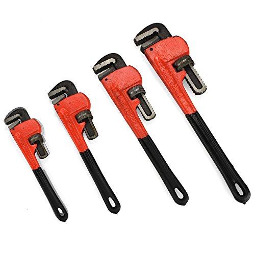 Heavy Duty Pipe Wrench  4pc Adjustable Set 8 10 14 18 Monkey Soft GripJikkolumlukka