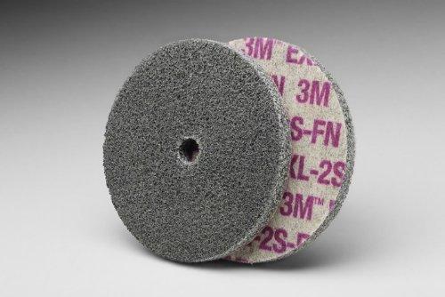 3M Scotch-Brite XL-UW Unitized Silicon Carbide Soft Deburring Wheel - Fine Grade - Arbor Attachment - 6 in Dia 1 in Center Hole - Thickness 12 in - 5000 Max RPM - 14379 PRICE is per WHEEL