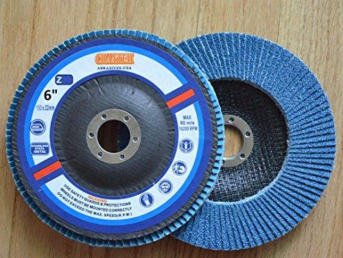 Premium FLAP DISCS 6 x 78 Zirconia 120 grit Grinding Wheel grinder tool - 5pcs Pack